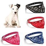 Collar para perros con pañuelo para perros pequeños, cachorros y gatos, color azul
