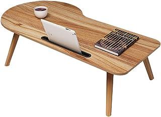 Tables HAIZHEN Pliable Bureau d'ordinateur Portable, présentoir de lit en Bois Solide Pliable avec la d'appoint de Fente p...