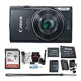 Canon PowerShot ELPH 360 HS Digital Camera w/ 32GB SD Card & Battery Pack Bundle