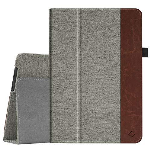 Fintie Hülle Hülle für Huawei MediaPad T5 10 - Ultra Schlank Folio Hochwertiges Flip Kunstleder Schutzhülle mit Standfunktion für Huawei MediaPad T5 10 10.1 Zoll 2018 Tablet PC,Denim grau