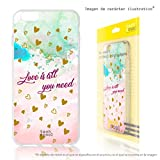 Funnytech Funda Silicona para Samsung Galaxy Grand Neo Plus i9060 [Gel Silicona Flexible, Diseño Exclusivo] Frases Love is All You Need Diseños Ilustraciones