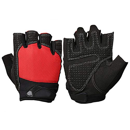 Sporttrainingshandschuhe Herren Fitness Equipment Handschuhe Sporttraining Handgelenk Anti-Rutsch-atmungsaktiv Half Finger Horizontal Pull-up-Handschuhe Klimmzüge Kettlebells Kreuzheben