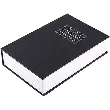 Caja de Seguridad en Forma de Libro - Cerradura con Combinación, Caja de Seguridad del Libro de simulación,Caja de Diccionario Segura de Creative Secret Book para Poner Joyas(24 * 15.5 * 5.5cm):