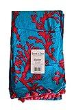 Telo Mare Telo Piscina Sdraio FOUTA Doppio con PON PON CM 100X180 Cotone + Spugna Microfibra Colore azzurro rosso corallo