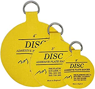 Flatirons Disc - Invisible English Disc - Adhesive Plate Hanger Set-|2"