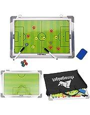 Rhino Gadget Pizarra magnética de entrenamiento de fútbol estrategia de 2 caras con marcadores de jugador, bolígrafo, borrador portátil verde 45 cm x 30 cm con bolsa de transporte con cremallera