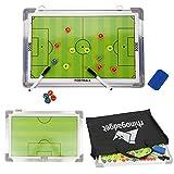 Rhino Gadget Pizarra magnética para entrenar fútbol táctica 2 doble cara con marcadores de...