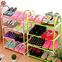 Generic Green : 4-Layer Portable ABS Shoes Rack Detachable Storage Shelf Living Room Furniture 3 Colors Available Shoe sgelf ZL301-1
