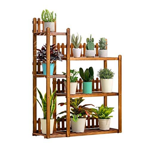 MYF-Soporte de flores multifuncional Planta soporte de madera Estanterías altas-bajas flor del sostenedor del estante de...