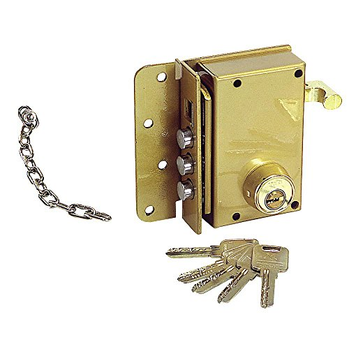 UCEM 3010316 Cerradura Seguridad 4500-s/he/Derecha, Dorado, 0