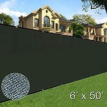 Sunnyglade 6 feet x 50 feet Privacy Screen Fence Heavy Duty Fencing Mesh Shade Net Cover for Wall Garden Yard Backyard (Green)