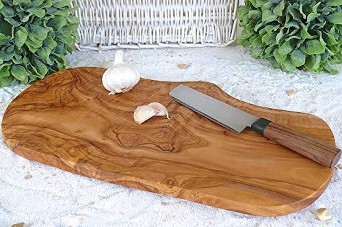 Schneidebrett Olivenholz rustikal - Verschiedene Größen (40-44 cm)