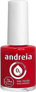 Andreia Halal Esmalte de Uñas Transpirable - Permeable Al Agua - Color B6 Roja - Sombras de Rosa | 105 ml