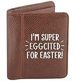 Flox Creative - Portafoglio da uomo con uovo, Pasqua, Marrone (Marrone) - 06605-MENSWALLET-BROWN