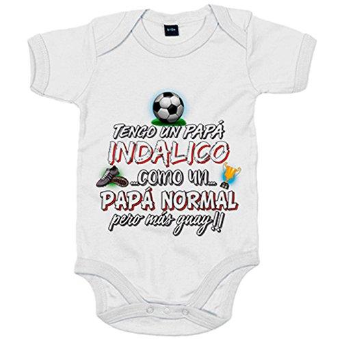 Body bebé tengo un papá Indálico como un papá normal pero más guay - Blanco, 6-12 meses