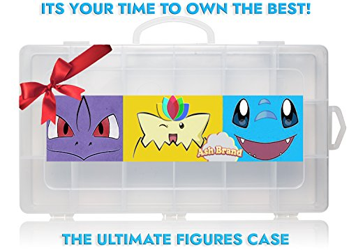 Action Figures Case Organizer With Ebook By Ash Brand| STOP LOOKING! GET THE ULTIMATE Beautiful Plastic Toy Box Storage Bin fits up to 144 Anime figure-TOYS NOT INCLUDED