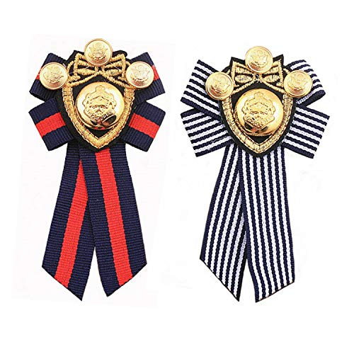 PPX 2 Stück Schleifenbrosche Brosche Damen Vintage Broschennadeln Bekleidungs Schmuck