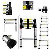 Todeco - Echelle Telescopique, Échelle Pliable - Charge maximale: 150 kg - Standards/Certifications: EN131 - 2,6 mètre(s), EN 131