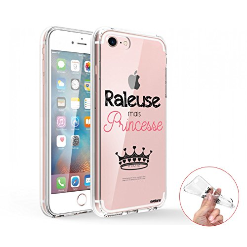Evetane Coque Compatible avec iPhone 7/8/ iPhone Se 2020 360 intégrale Coque Avant arrière Resistant Fine Protection Solide Housse Etui Transparente Raleuse mais Princesse Motif Tendance