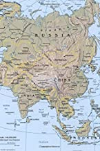 Modern Day Relief Map of Asia Journal: Take Notes, Write Down Memories in this 150 Page Lined Journal