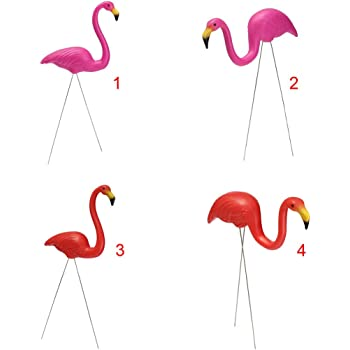 SONONIA 2個入り ピンク プラスチック製 フラミンゴ ヤード ガーデン 芝生 園芸 装飾品