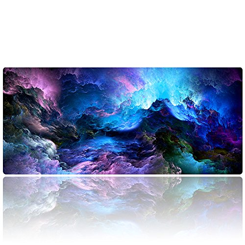 AliBli Large Gaming Mouse Pad xxl Extended Mat Desk Pad Mousepad long Non-Slip Rubber Mice Pads Stitched Edges 900x400mm