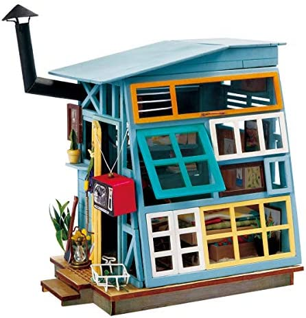 Rolife Dollhouse DIY Craft House Kit Small Sized Miniature with Accessories and LED Wooden Model product image