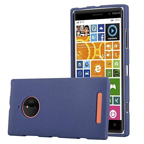 Cadorabo Hülle für Nokia Lumia 830 - Hülle in Frost DUNKEL BLAU – Handyhülle aus TPU Silikon im matten Frosted Design - Silikonhülle Schutzhülle Ultra Slim Soft Back Cover Case Bumper
