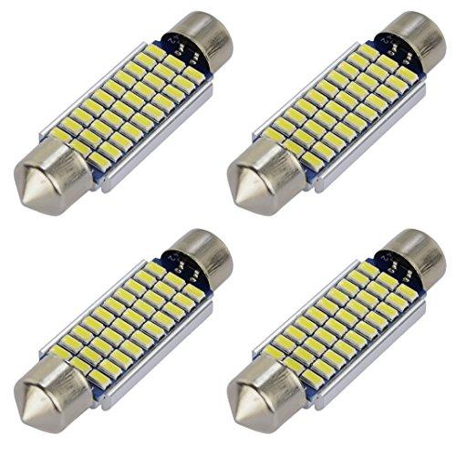 Kashine 4 x 39mm C5W LED Lampadine Auto 30 SMD 3014 LED Lampada per Interior Luci Dome Lettura Soffitto 12V Luce Targa Illuminazione Bianca