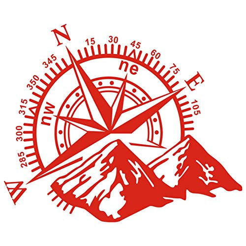 1pcs Mountain Compass Navigation Car Sticker, 3D Car Door Sticker Navigate Mountain Compass Decorative Car Cover Graphic, Adhesive Universal Vinyl Sticker Car Decal for Hood Body