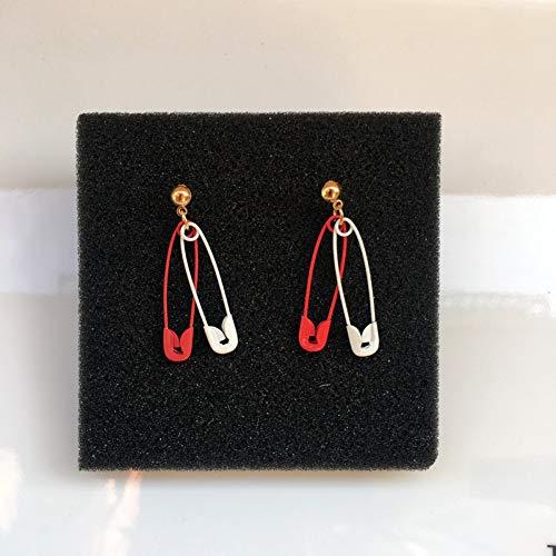AWFBR oorbel Grappig en interessant Papier clip pin oorbellen Voor vrouwen Unieke persoonlijkheid multi-color oor sieraden