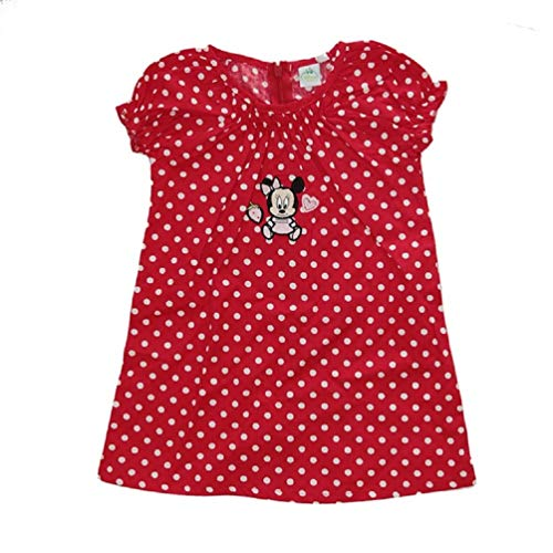 Minnie Mouse Baby Sommer-Kleid Rot, Größe:71 (9 Monate)