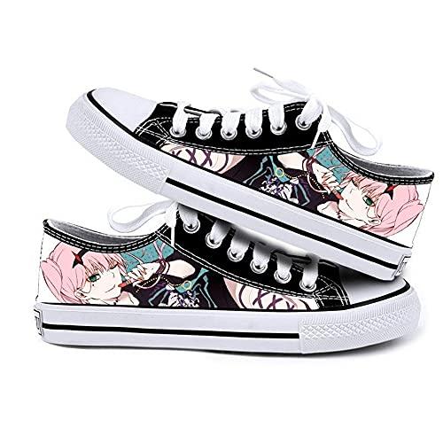 NIEWEI-YI Zapatos De Lona con Estampado De Anime Darling in The FRANXX, Zapatillas Informales, Zapatos Deportivos, Zapatos Bajos,36 EU