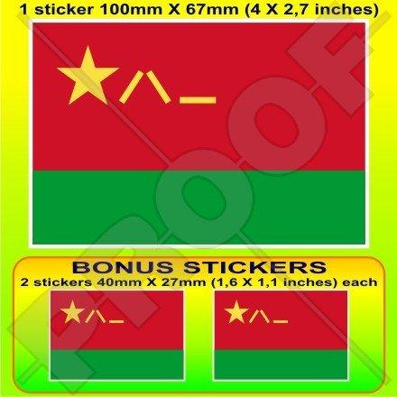 Chine chinois Armée Aviation Plaa Drapeau 10,2 cm Bumper Sticker en vinyle (100 mm), en x1 + 2 Bonus