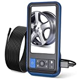 Teslong Inspection Camera, 8MM Dual Lens 4.5 inches IPS Screen Endoscope-Borescope with 32GB Card, 16.4ft Waterproof Cable, 1080P Display Screen, 6 LED Lights, IP67 Waterproof