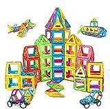 Condis 120 Piezas Bloques de Construcción Magnéticos para Niños, Juguetes Niños de 3 4 5 6 7 8 Años Juegos Magneticos Educativos Viaje Juego de Imanes magneticas para Niños Niñas Montessori Regalos