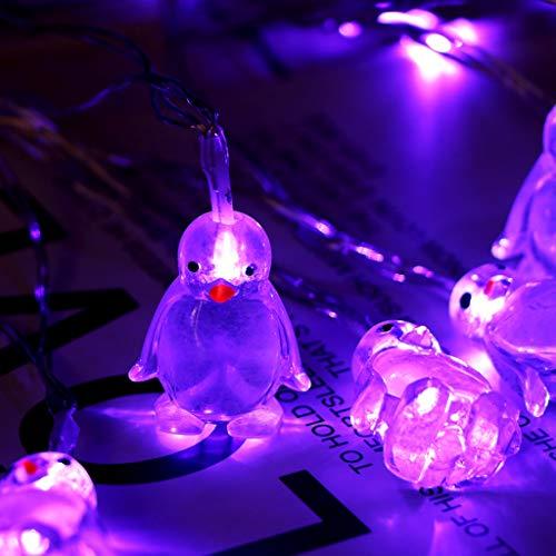 1,65 M 10 Led Pinguin Tierform Lichterketten Stimmungslichter Lichterkette FüR Zimmer Wasserdicht Licht String Innen Weihnachten Kinderzimmer AußEn Party Hochzeit Lichtervorhang