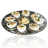 Formano Plato de huevo para servir o como decoración, con espacio para hasta 8 huevos y u...