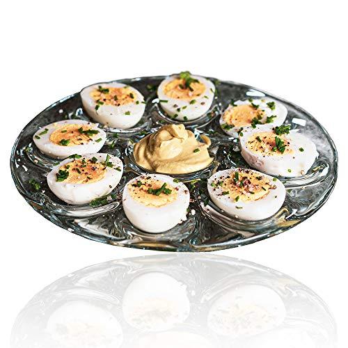 Formano Eierteller zum Servieren - oder als Deko - mit Platz für bis zu 8 Eiern und einem Dip - Blickfang in jedem Esszimmer, Küche, Wohnzimmer