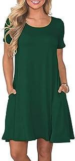 Women's Casual Summer T Shirt Dresses Short Sleeve Swing...