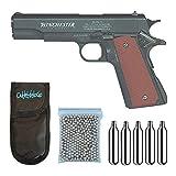 Outletdelocio. Pistola perdigon Winchester M11 Blowback. Co2. Metal. 4,5mm + Funda Portabombonas + Balines + Bombonas co2. 23054/29318/38123