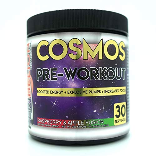 Perihelion Nutrition Cosmos Pre-Workout 30 Servings 330grams Energy Drink with Caffeine + Creatine (Raspberry & Apple)