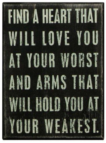 Plaque de boite Primitives-Trouvez un cœur qui seront Love You
