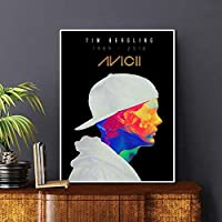 Canvas Wall Art Painting, Avicii Painting Printing,Poster Art, Mural Modern Home Decor Painting Unframed 50*65cm