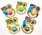 Big Time Toys YoYo Ball Party Pack of 5, As seen on TV, Assorted Colors and Patterns, Automatically Returns to You - Never Needs rewinding, Create Tricks, Instructions Included
