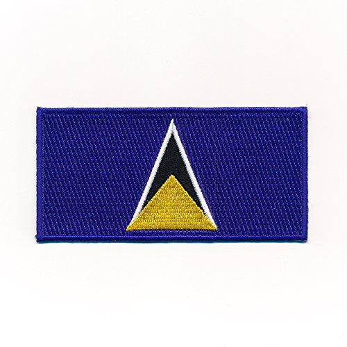50 x 25 mm Flagge Saint Lucia - St. Lucia Castries Aufnäher Aufbügler 1049 A