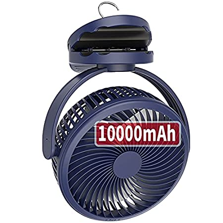 10000mAh Battery Operated Clip Fan with Hanging Hook