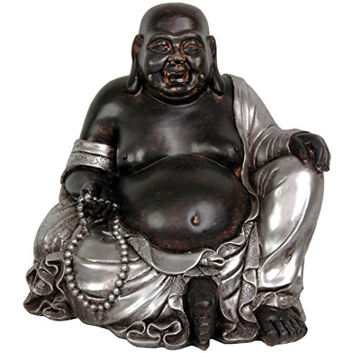 Oriental Furniture 11' Sitting Happy Buddha Statue