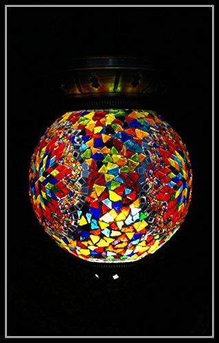 Mosaiklampe Mosaik - Hängelampe XL orientalische lampe Deckenlampe Bunt Samarkand-Lights