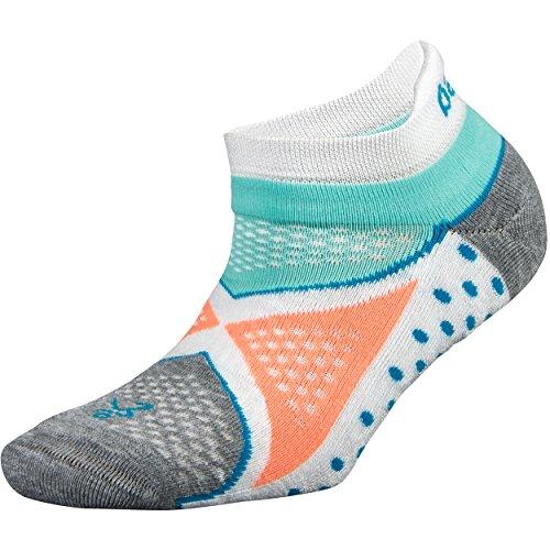 Balega Damen Enduro V-Tech No Show Socken (1 Paar) S Weiß/Aqua